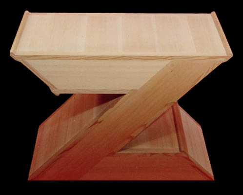 Z table abstract furniture design by elias wakan for Z table design